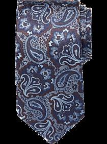 Mens Ties, Sale - Joseph Abboud Voyager Blue & Brown Paisley Narrow Tie - Men's Wearhouse