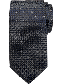 Mens Ties, Clearance - Joseph Abboud Voyager Navy Cascading Check Narrow Tie - Men's Wearhouse