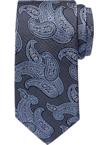 Joseph Abboud Gray & Blue Paisley Narrow Tie