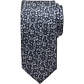 Pronto Uomo Charcoal Floral Narrow Tie