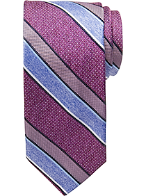 Pronto Uomo Berry Stripe Narrow Tie