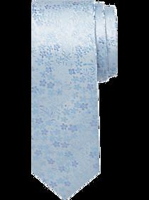 Mens Best Sellers, Accessories - Egara Orange Skinny Tie, Light Blue Floral - Men's Wearhouse