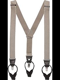Mens 30% Off Accessories, Clothing - Egara Tan Diamond Convertible Suspenders - Men's Wearhouse