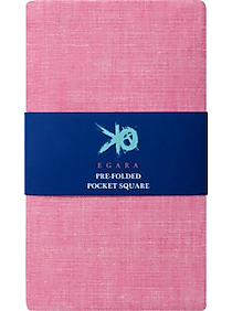 Mens 2 For $30 Pocket Squares, Accessories - Egara Pink Pre-Folded Pocket Square - Men's Wearhouse