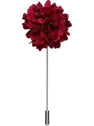 Pronto Uomo Red Flower Lapel Pin