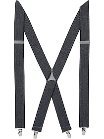Egara Navy Herringbone Clip Suspenders, Big & Tall