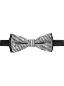 Calvin Klein Black & Gray Bow Tie