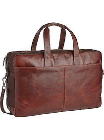 Joseph Abboud Brown Leather Duffle Bag