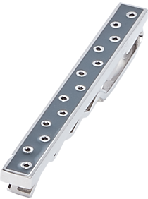 Mens Tie Bars & Tie Chains, Accessories - Egara Gray & Silver Polka-Dot Tie Bar - Men's Wearhouse