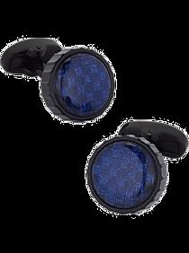 Mens Jewelry and Cufflinks, Accessories - Egara Navy & Black Woven Cufflinks - Men's Wearhouse