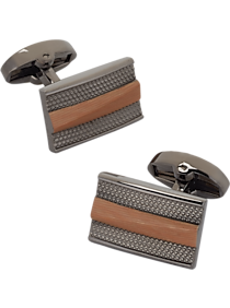 Mens Jewelry and Cufflinks, Accessories - Egara Wood & Silver Cufflinks - Men's Wearhouse