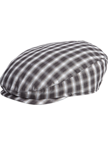 Mens Scarves, Hats & Gloves, Accessories - Free Authority Dark Gray Plaid Newsboy Cap - Men's Wearhouse