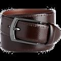 Joseph Abboud Brown Textured Leather Belt