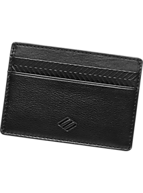 Joseph Abboud Black Leather Card Case