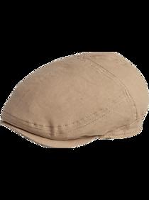 Mens Scarves, Hats & Gloves, Accessories - Biltmore Khaki Linen Newsboy Cap - Men's Wearhouse