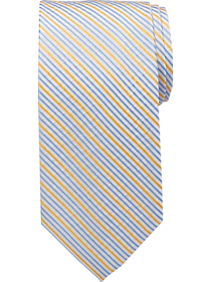 Tommy Hilfiger Yellow Summer Stripes Narrow Tie