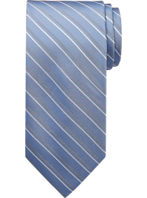 Calvin Klein Blue Herringbone Stripe Narrow Tie