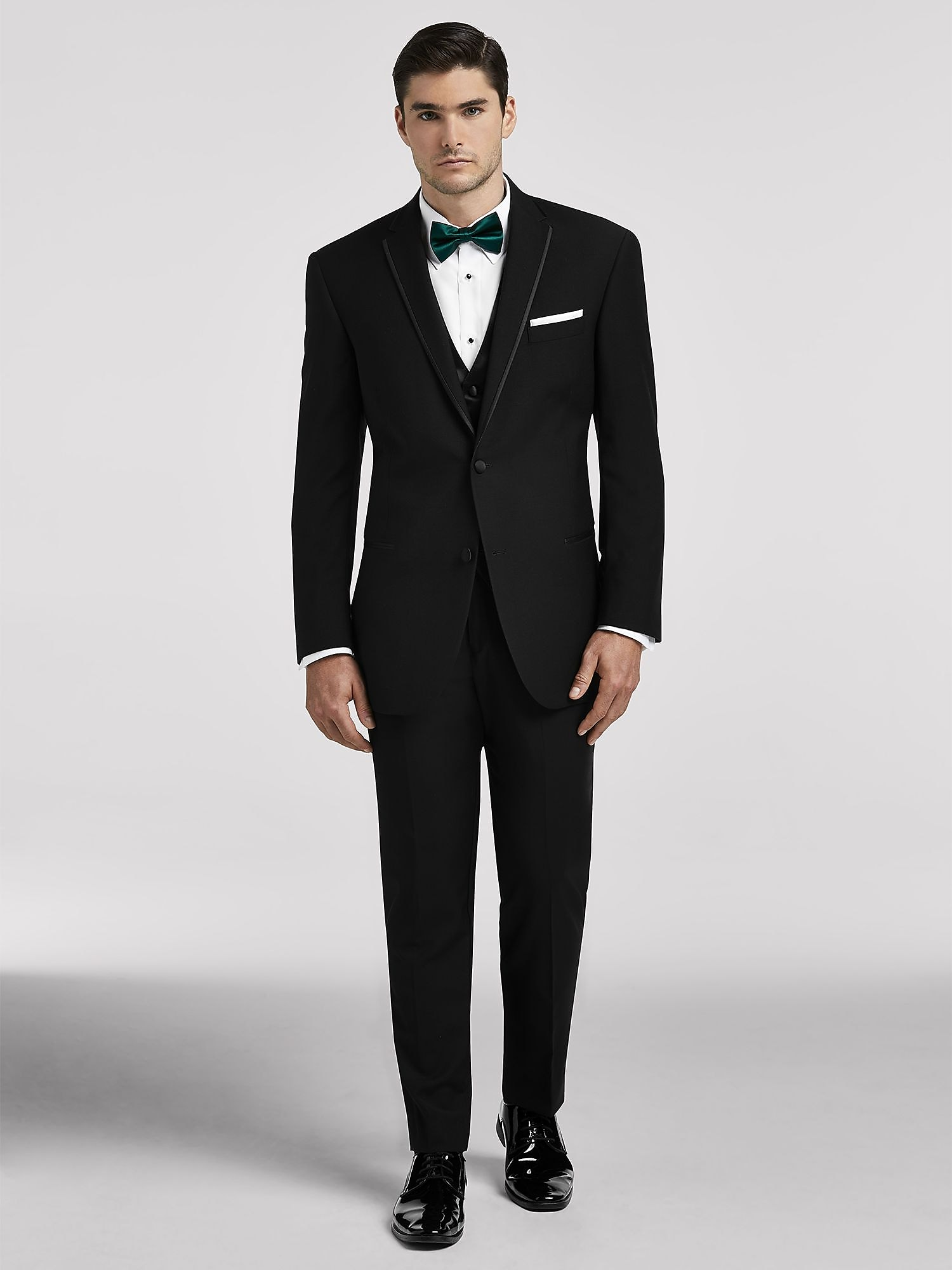 Broadway Tuxmakers Mens 2 Pc 38L Black Notch Collar Tuxedo Suit